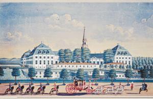 Hirschholm i 1739 (Hørsholm Egns Museum)